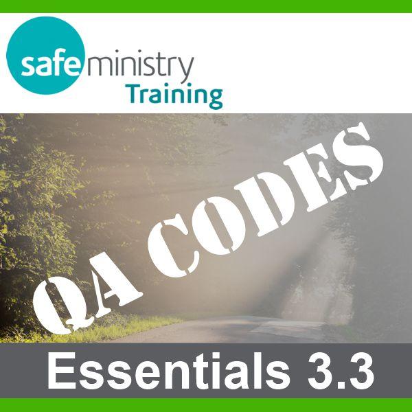 Essentials QA Codes for Anglican Churches